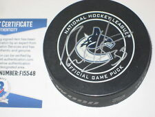 BO HORVAT Signed Vancouver CANUCKS Official GAME Puck w/ Beckett COA