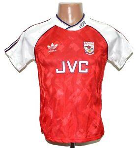 ARSENAL LONDON 1990/1992 HOME FOOTBALL SHIRT JERSEY ADIDAS SIZE YM/YL BOYS