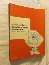 Metaphysics mathematical logic Leibniz boole Rosmini-Serbati Maria Luisa taking Marsilio