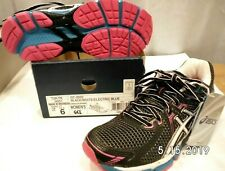 Asics Womens GT-2000 GEL Running Shoes black/white/electric blue US 6 EUR 37 New