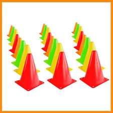 24Pc Cones Sports Equipment for Fitness Training, Soccer Traffic Safety Practice