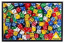 Puzzle Piatnik - 1000 pezzi - dadi colori bianco blu giallo verde rosso cm 69x50