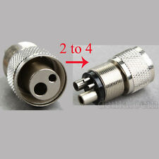Dental High Speed Handpiece Turbine Adapter Holes Changer from 2 to 4 Hole Rm-z