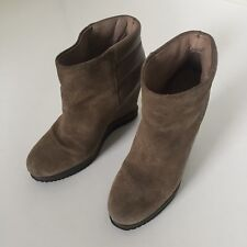 SURFACE TO AIR SUEDE ANKLE BOOTS WEDGE SOLE TAUPE UK3 EU36 EXCELLENT CONDITION