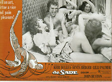 unframed art poster de sade movie postcard 1969 (LV109)