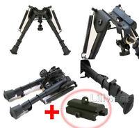 "6"" to 9"" Adjustable Spring Return Sniper Hunting Rifle Bipod -Sling Swivel Mount"