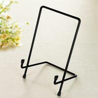 Metal Iron Display Easel Stand Plate Bowl Picture Frame Photo Frame Holder_S