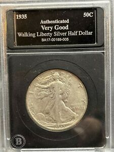 1935 S Walking Liberty Silver Half Dollar