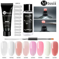 MTSSII Poly Quick Extension Builder UV Gel Nail Art Tips Brush Tool Set Manicure
