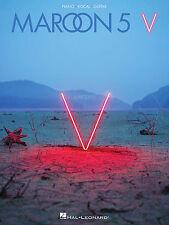 MAROON 5 V PIANO VOCAL GUITAR SHEET MUSIC SONG BOOK