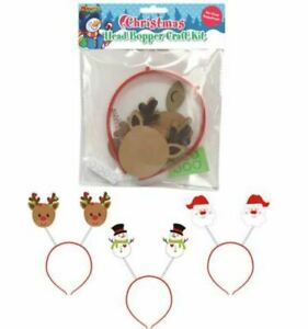 Make Your Own Santa - Snowman - Reindeer Christmas Head Bopper Headband Craft