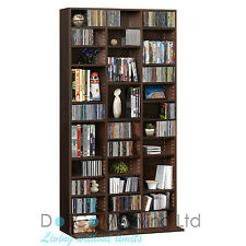 1116 Cd/528 DVD Storage Shelf Rack Unit Adjustable BLURAY Video Book Brown