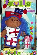 """DAM Troll Doll  NEW ENGLAND SUPPORTER WITH BULLHORN 5"""" New in Box"""