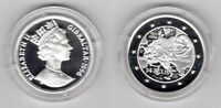 GIBRALTAR - RARE SILVER PROOF 14 ECU COIN 1996 YEAR KM#509 NAPOLEON
