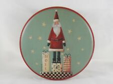 Pointed Hat Santa Claus w/ Gifts & Noel Tin