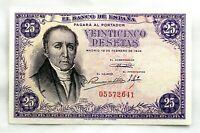 Spain-Billete. Florez Estrada . 25 Pesetas. 1946. SIN SERIE. SC/UNC. Raro.