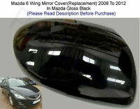 Mazda 6 Mirror Cover Supplied In Gloss Black 2008 To 2012