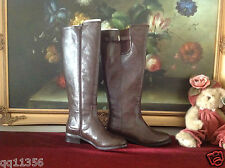 Ann Taylor buckle Riding Boots MANMADE UPPER SOLE Dark Chocolate size 6 1/2 M