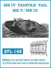 Friulmodel ATL-148 1/35 British MK.IV Tadpole Tail Mk.V / Mk.IX Metal Tracks