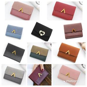 Womens Short Small Cute Clutch Coin Purse Wallet Ladies Folding Card Holder UK