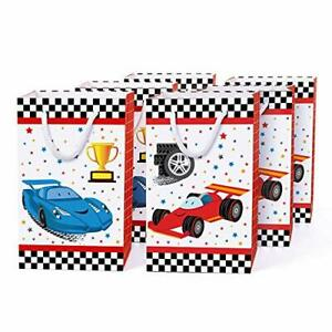 WERNNSAI Racing Car Party Bags with Handles - 16 PCS Race Car Party Supplies ...