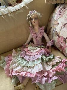 Fabulous French Cloth Boudoir Doll 1920's
