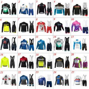 Mens Cycling Jerseys Cycling Long Sleeve Jerseys And Bib Shorts Cycling Shorts