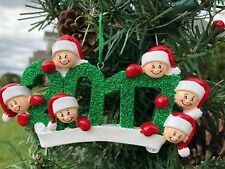 FREE PERSONALIZED GIFT 2017 Family Of 6 Christmas Tree Ornament Holiday ON SALE
