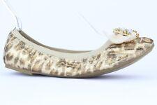 Unisa Women's Leopard Print Ballet Flats With Rhinestone Detail Size 9M