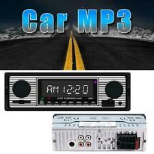 New listing Bluetooth Vintage Car Radio Mp3 Player Stereo Usb Aux Audio Classic New Y2T3