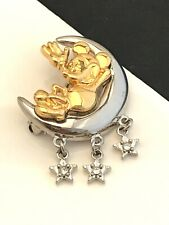 Disney Mickey Mouse Pin Crystals Van Dell Sterling Silver NWOT 9A