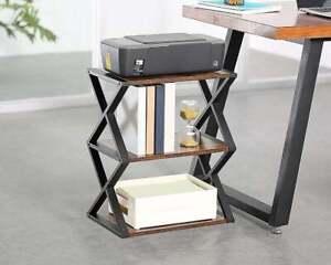 Handmade 3 Tier End Table Storage Home Decor Furniture Decoration