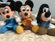 VTG Plush MICKEY'S CHRISTMAS CAROL Set of 3 Goofy Minnie Clean Excellent