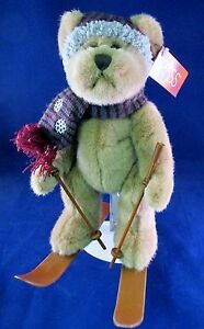 RUSS Berrie Plush Teddy Bear SKIER Stuffed Animal Toy 48072 Poles Hat Scarf Tags