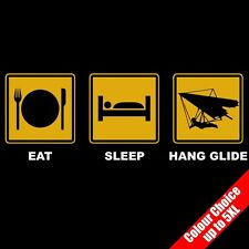 Eat Sleep HANG GLIDE Air Sport Hang Gliding Funny T-Shirt 16 Colours - to 5XL