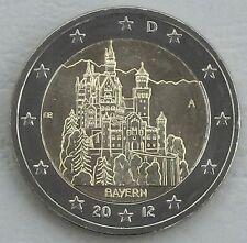2 EURO GERMANIA A 2012 neuschwans TEIN/Baviera unz