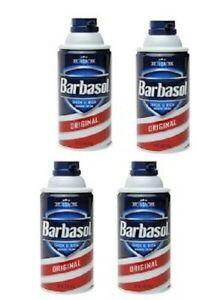 BARBASOL Shaving Foam 10oz. Original Scent Lot of 4 Can Bottles Made in USA