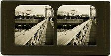 Stereophoto. Böhmen, Prag Kettensteg, Rudolfin. um 1900