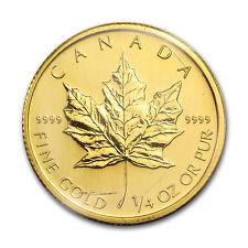 2009 Canada 1/4 oz Gold Maple Leaf BU - SKU #46349