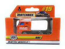 Matchbox MBX Superfast 1999 No 15 DAF 3300 SPACE CAB ROW Version box