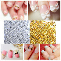 3D DIY Micro Beads Pearl Nail Art Rhinestone Caviar Tips Decoration Manicure
