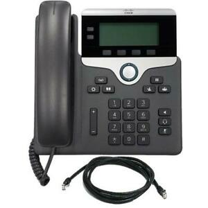Cisco 7821 2-Line IP Phone in Charcoal CP-7821-K9=
