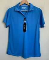Bermuda Sands Golf Polo Shirt Short Sleeves Womens Blue Size M NEW