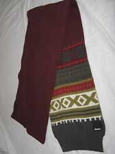 BNWT -  BENCH Hamlet  Knitted  Winter Scarf   Burgundy Red