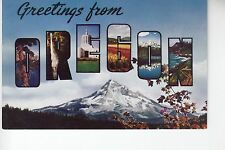 Chrome Large Letter Greetings from Oregon OR Ore
