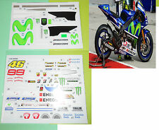 Decal moto minichamps tamiya au 1/12 éme Valentino Rossi yamaha 2015 Lorenzo