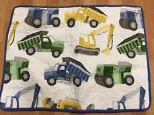 Lil Dickens Boys Dump Truck Construction Vehicles Standard Quilted Pillow Sham