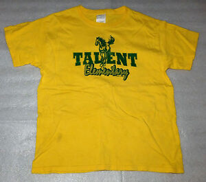 Talent Oregon Elementary Mustangs Horse Yellow T-Shirt Girls Boys Size Youth L