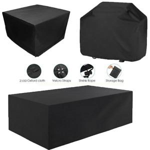 Garden Patio Furniture BBQ Cover Waterproof Heavy Duty Outdoor Rattan Table Cube