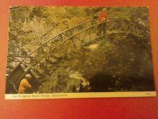 A Postcard of the Iron Bridge at Devils Bridge Aberystwyth.Unposted